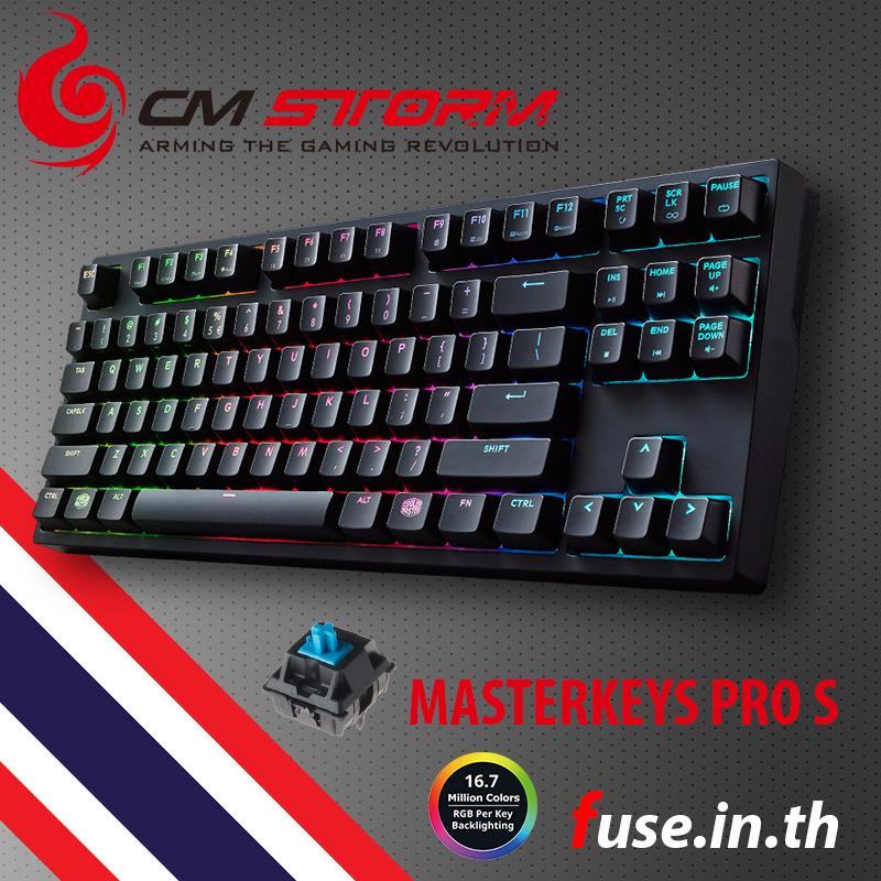 CM Storm MasterKeys Pro S Cherry MX Blue Switch RGB
