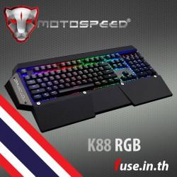 คีย์บอร์ด Motospeed K88 [Otemu Blue Switch] RGB Macro Mechanical Keyboard คีย์ไทย