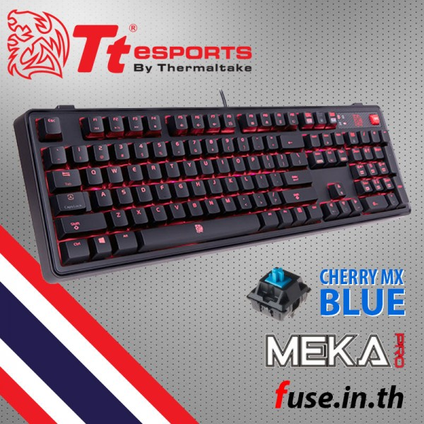คีย์บอร์ด Tt eSPORTS MEKA PRO Cherry MX Blue คีย์ไทย