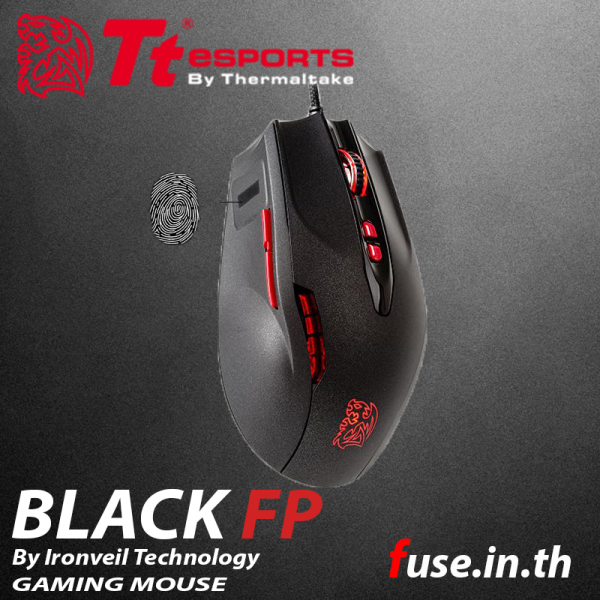 เมาส์ Tt eSPORT Black FP Gaming Mouse