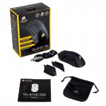 เมาส์ Corsair GLAIVE RGB Gaming Mouse - Black สีดำ