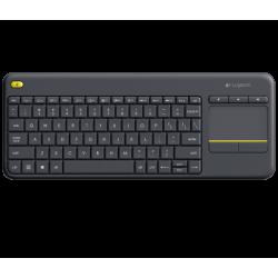 คีย์บอร์ด Logitech Wireless Touch Keyboard K400 Plus Black สีดำ