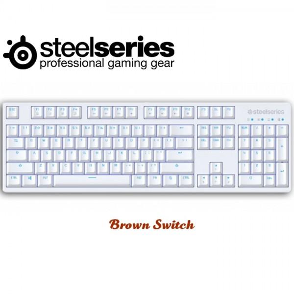 คีย์บอร์ด SteelSeries Apex M260 Frost Blue (US) Brown Kailh Switch